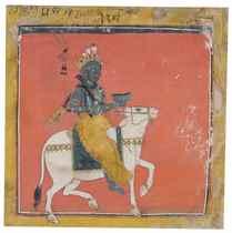 "A folio from the ""Tandan"" Ragamala: Bhairava Raga"