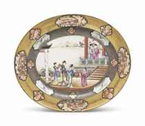 A VERY LARGE 'ROCKEFELLER PATTERN' PLATTER
