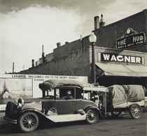 Oakies on Their Way West, Wyoming, 1936