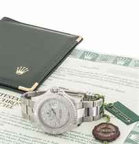 ROLEX A STAINLESS STEEL AND PLATINUM AUTOMATIC WRISTWATCH WI