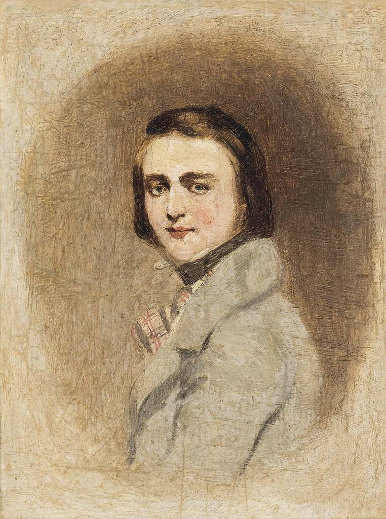 Richard Dadd (1817-1887), Self-Portrait, circa 1841. Oil on board, 7½ x 6 in (19.1 x 15.3 cm). Estimate £8,000-12,000. This lot is offered in Victorian, Pre-Raphaelite & British Impressionist Art, Maritime Art, Sporting & Wildlife Art  on 22 March 2017 at Christie's in London, South Kensington