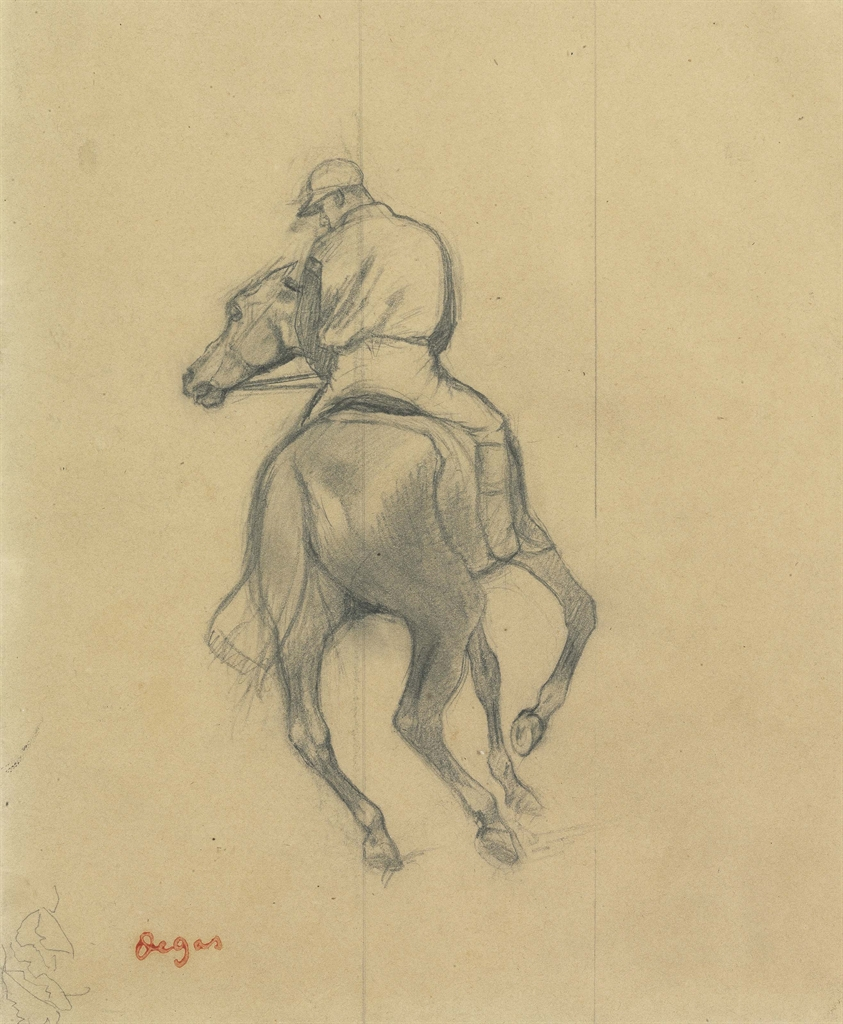 Edgar Degas (1834-1917), Jockey. Pencil on paper, 9 ¼ x 7⅞ in (23.5 x 19.7 cm). Estimate $80,000-120,000. This lot is offered in Impressionist & Modern Art Works on Paper on 16 May 2017, at Christie's in New York