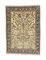 A FINE PART SILK TEHERAN RUG
