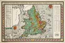 A MAP OF ENGLAND AND WALES