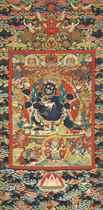 A VERY RARE AND IMPORTANT IMPERIAL KESI SIX-ARM MAHAKALA THA
