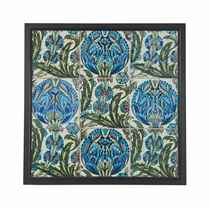 A WILLIAM DE MORGAN (1839-1917) PAINTED AND GLAZED CERAMIC TILE PANEL