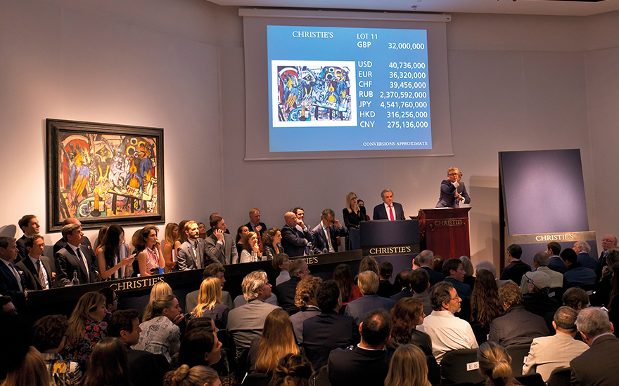 New world auction record for Beckmann