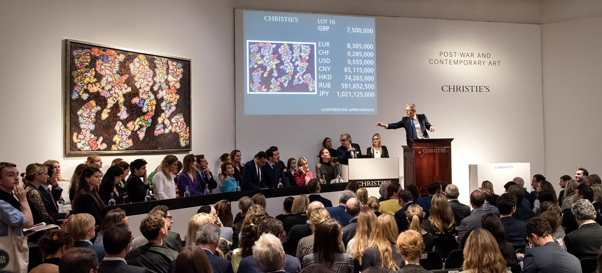 Dubuffet work from 1961 makes top price in London