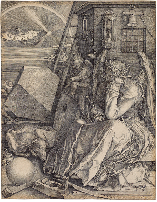 symbolism of albrecht durers master engravings There is no more insightful or enduring study of the troubled mind than albrecht dürer's 1514 engraving.