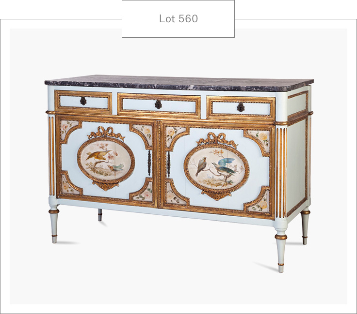 bliss summers furniture specialist new york a louis xvi polychrome painted and marble top commode - Furniture Specialist
