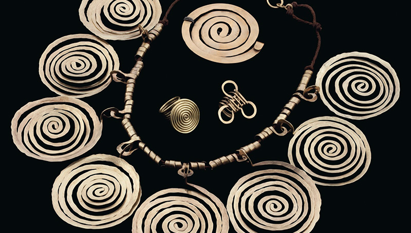 Alexander CalderTightly wound coils of lustrous metal