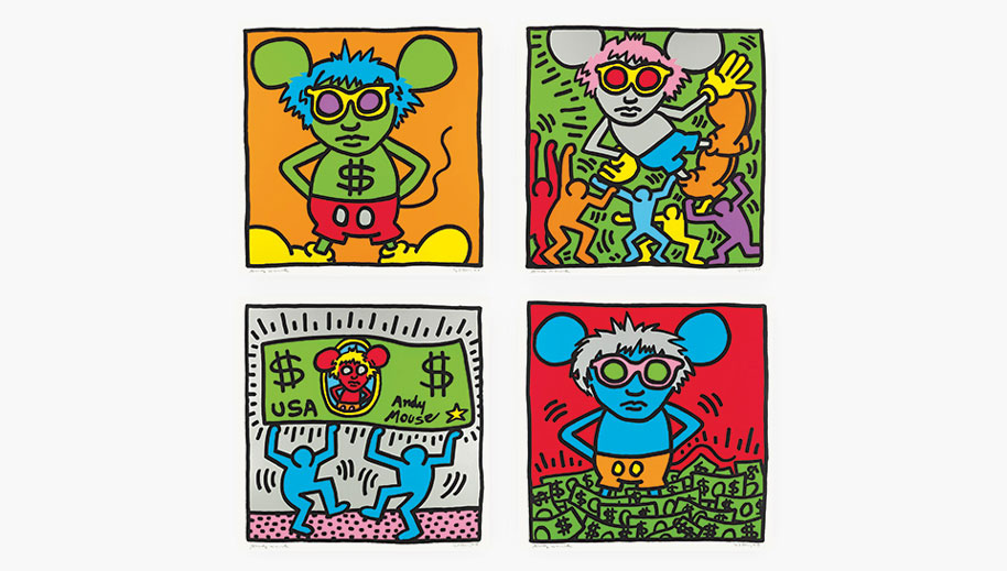 Artists & Icons Keith Haring's Andy Mouse