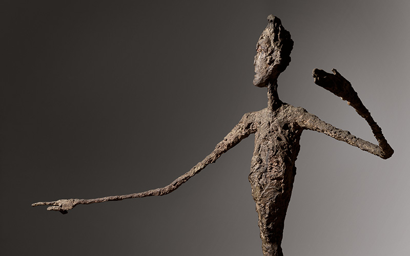 Giacometti's iconic L'Homme au doigt (Pointing Man)
