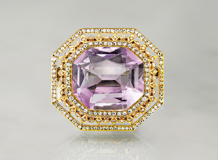 faberge pins the brooch tatianazlobina by on shaped and best rose images surround lozenge with pinterest openwork border cushion cut violet old antique to diamond sapphire pearl brooches