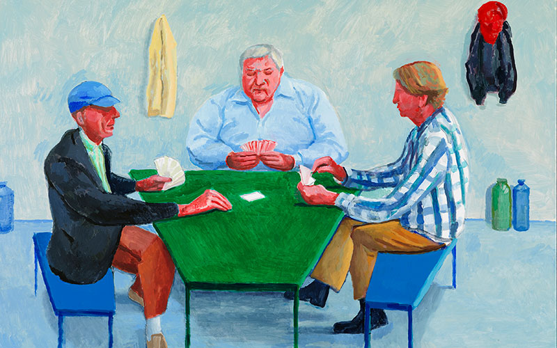 Hockney Returns To Portraiture Christies - Who painted the card players
