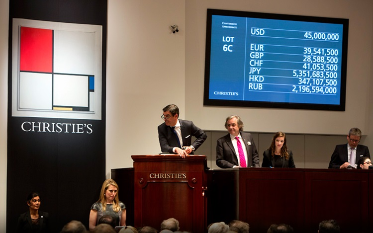 World record for Mondrian auction at Christies