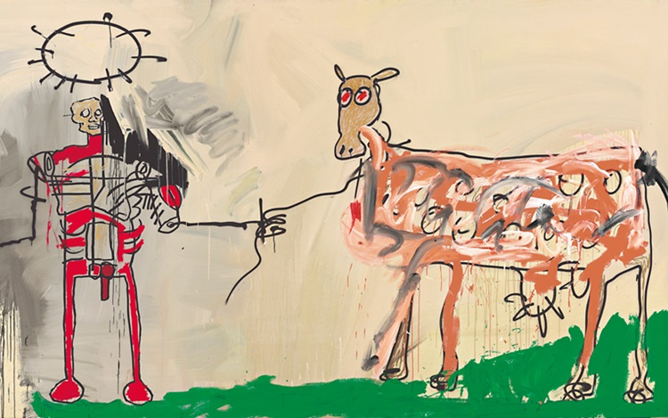 Jean-Michel Basquiat's The Fie auction at Christies