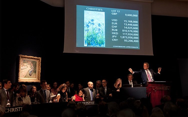 Monet leads the way in the Lon auction at Christies