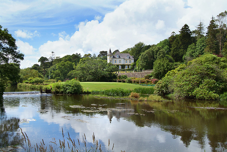 This Enchanting Country Estate Rests On An Idyllic 315 Acre Plot In Ireland S County Cork Built 1853 Property Comprises Historic French