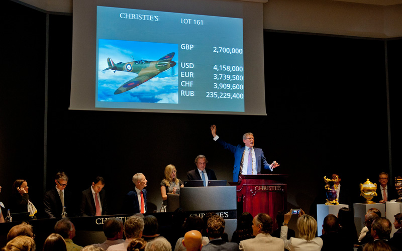 Historic Spitfire soars in record-breaking London sales