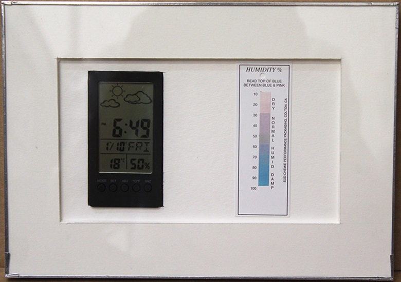 A simple test for UV and humidity levels within a sealed enclosure. © John Jones London
