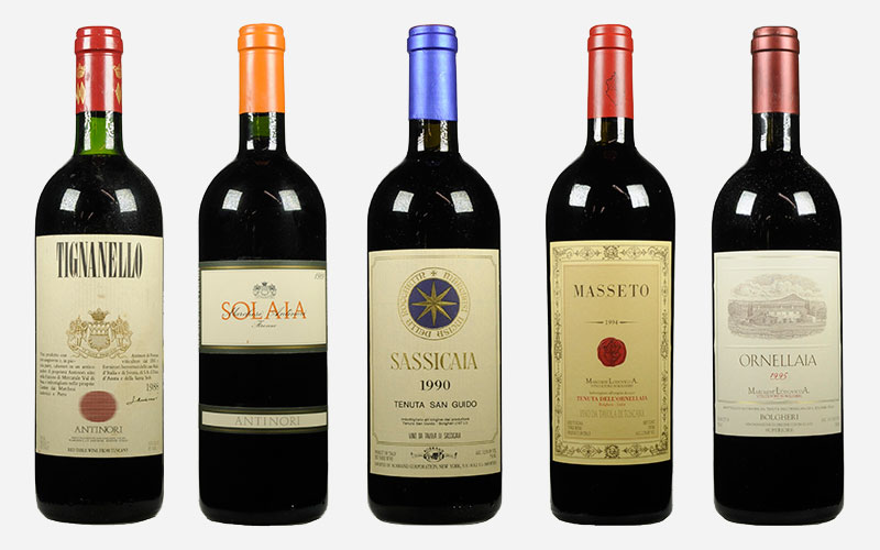 Super Tuscans Five superstars that changed Italian wine