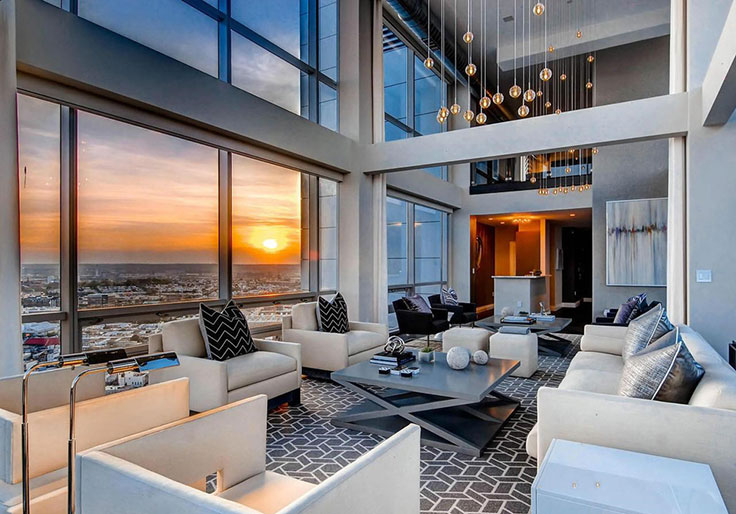 cool modern luxury penthouse living room | Luxury Living: Perfect Penthouses | Christie's