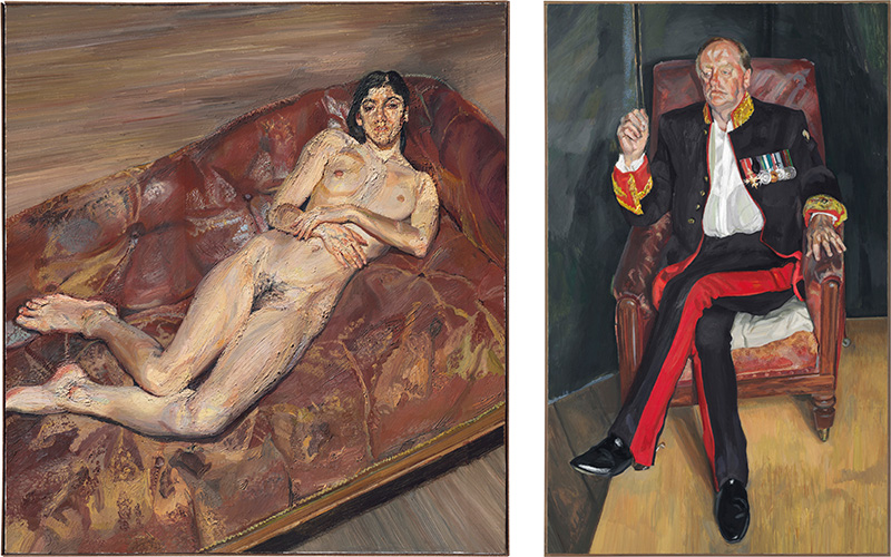 Bella and the Brigadier — two major portraits by Lucian Freud