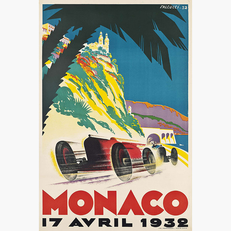 the thrill of the race monaco grand prix posters christie 39 s. Black Bedroom Furniture Sets. Home Design Ideas