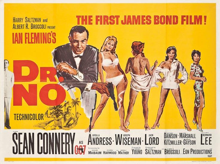 Αποτέλεσμα εικόνας για 'DR. NO' (1962) POSTER, BRITISH