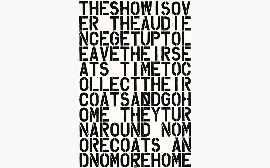 Christopher Wool's Untitled THE SHOW IS OVER