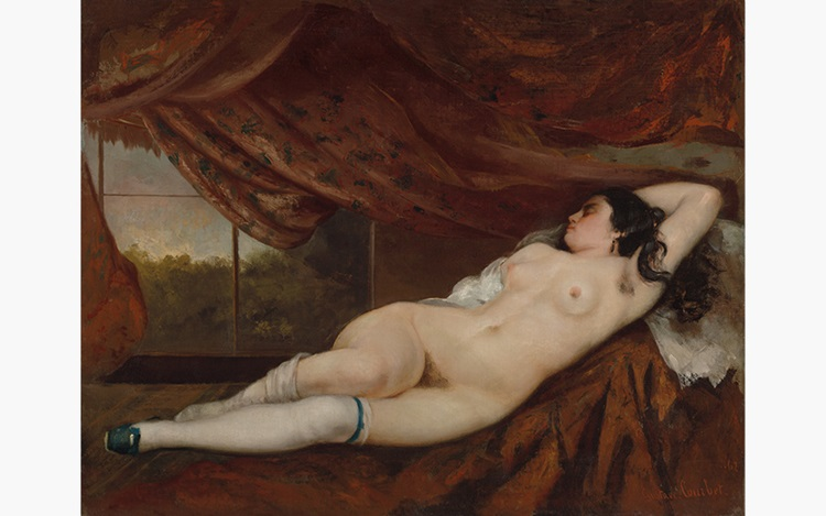 Gustave Courbet Femme nue couc auction at Christies
