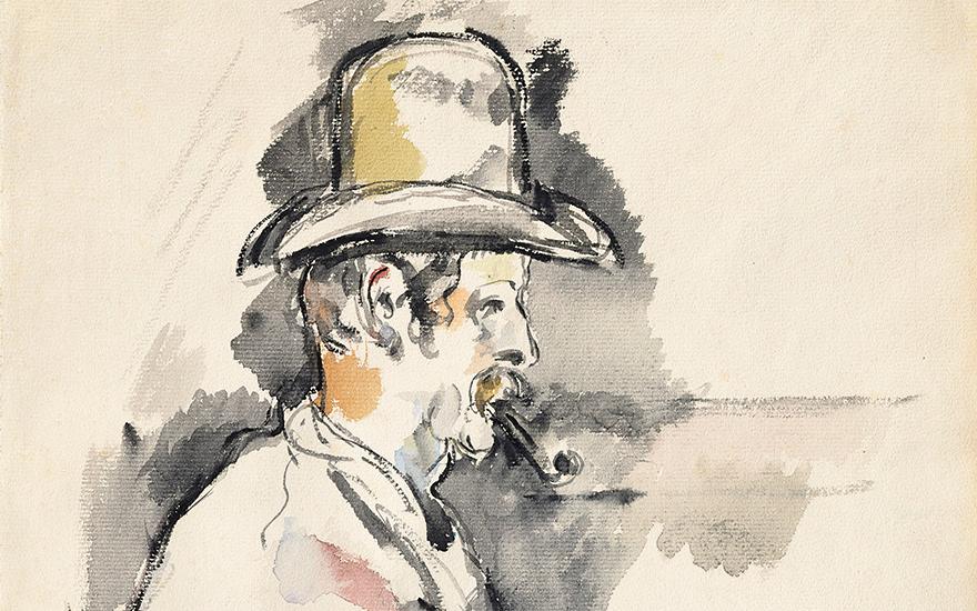 Paul Cézanne's L'homme à la pi