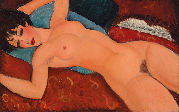 Amedeo Modigliani's Nu couché auction at Christies