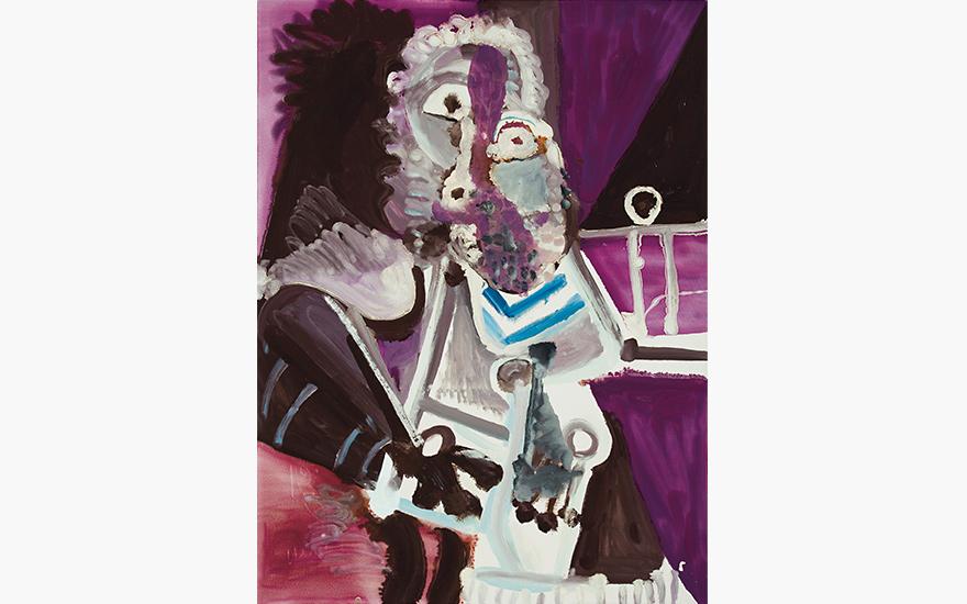 Picasso's unconventional self-portrait Homme assis (Mardi Gras)