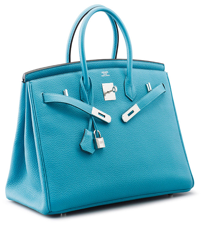 A 35cm Turquoise Togo Leather Birkin Bag Hermès 2017 Estimate 15 000 20 This And Other Luxury Handbags Are On Offer In Christie S