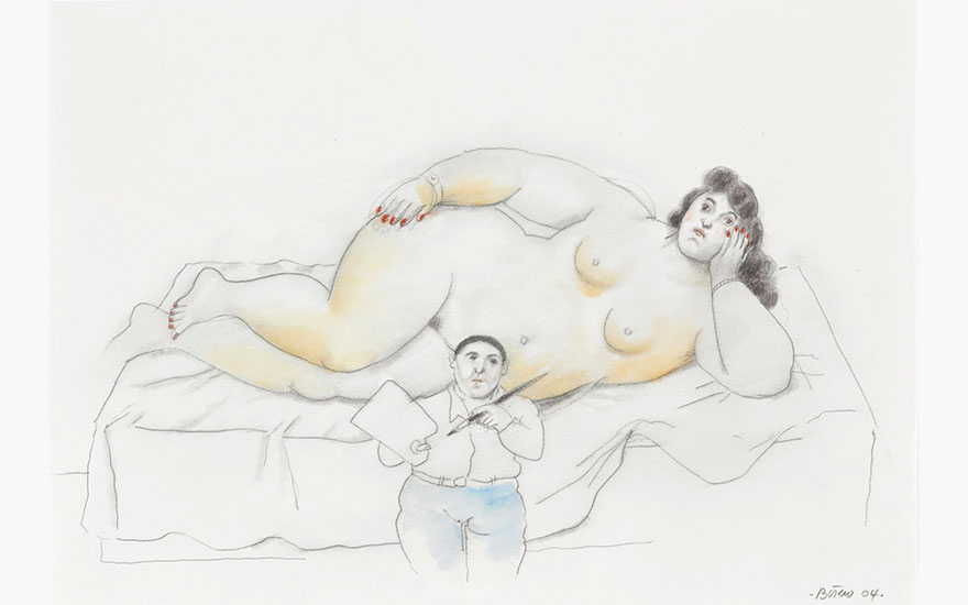 Deconstructed Fernando Botero's Painter and Model
