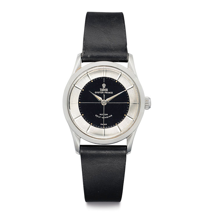 watches worn by mad men christie s signed tudor oyster prince rotor self winding ref 7967 case no 300 673 manufactured in 1959 worn the tv show mad men estimate 1 000 2 000