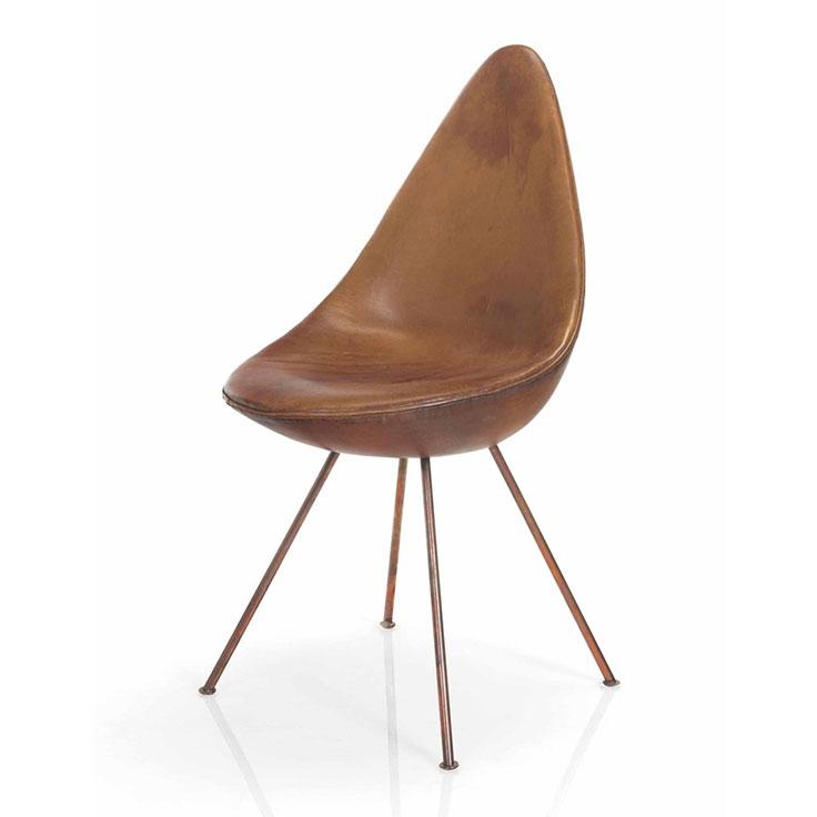 Design masterpieces christie 39 s for Arne jacobsen drop chair