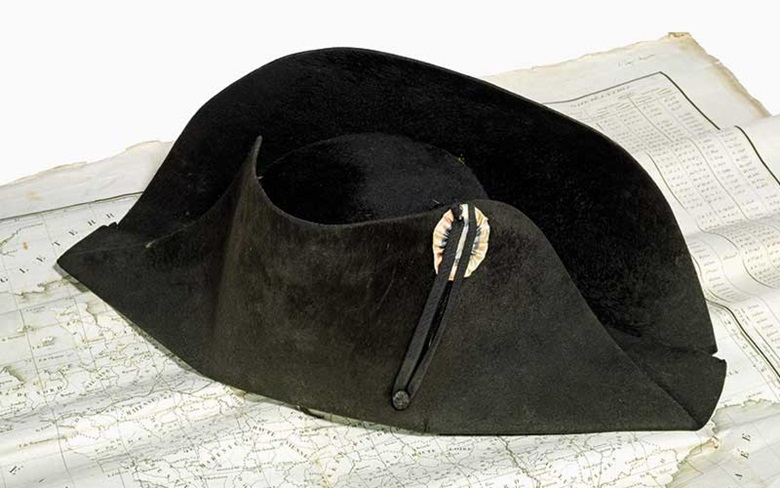 Imperial black felt bicorne campaign hat, circa 1806, attributed to Poupart & Co. Sold for £386,500 on 9 July 2015 at Christie's London