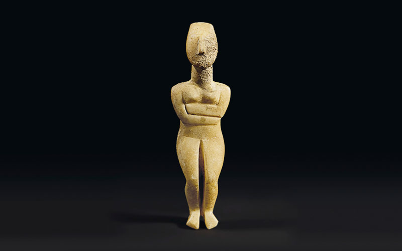 'My highlight of 2015' — a Cycladic marble female figure