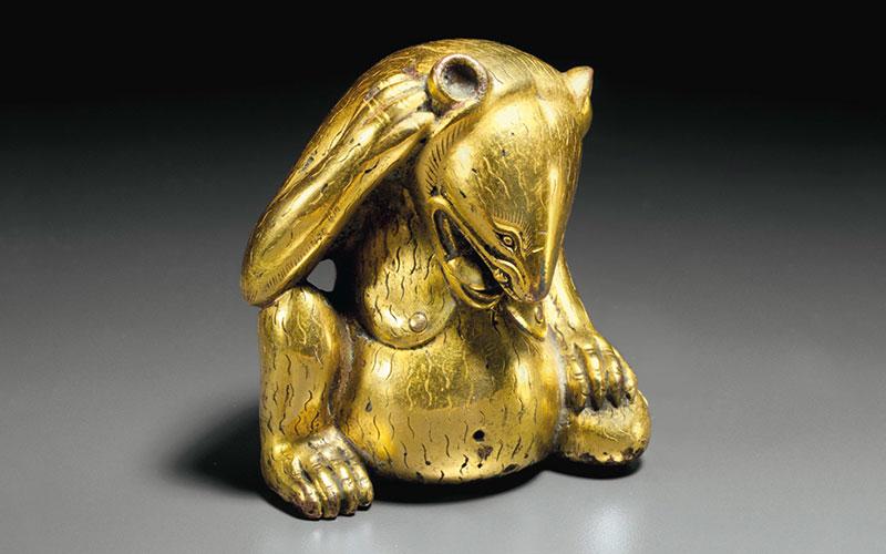 'My highlight of 2015' — A gilt-bronze figure of a bear