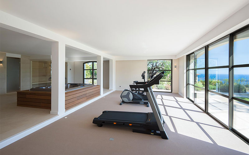 Luxury living private fitness centres