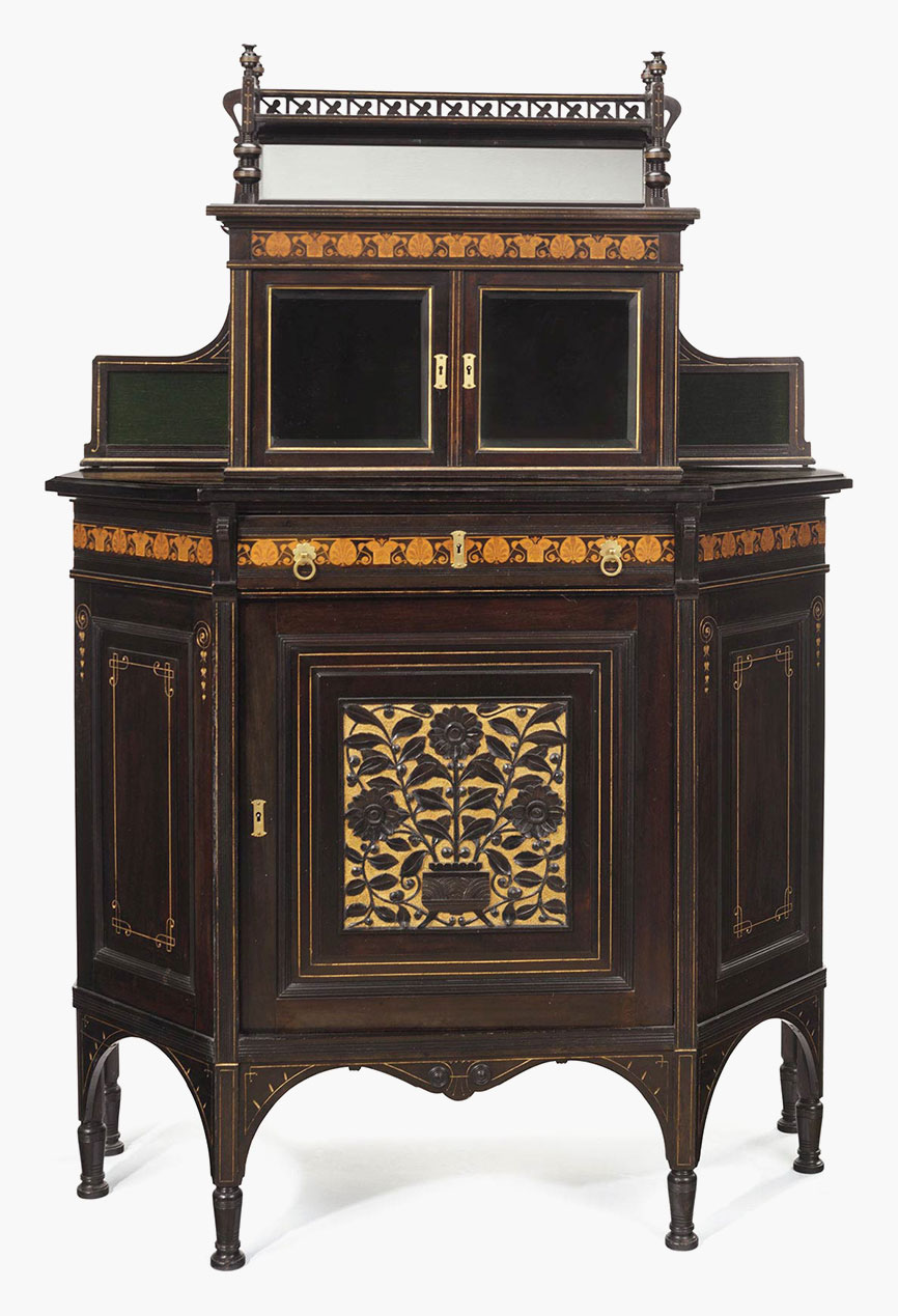 Antiques Cabinet Cabinet In The Empire Style Around 1870