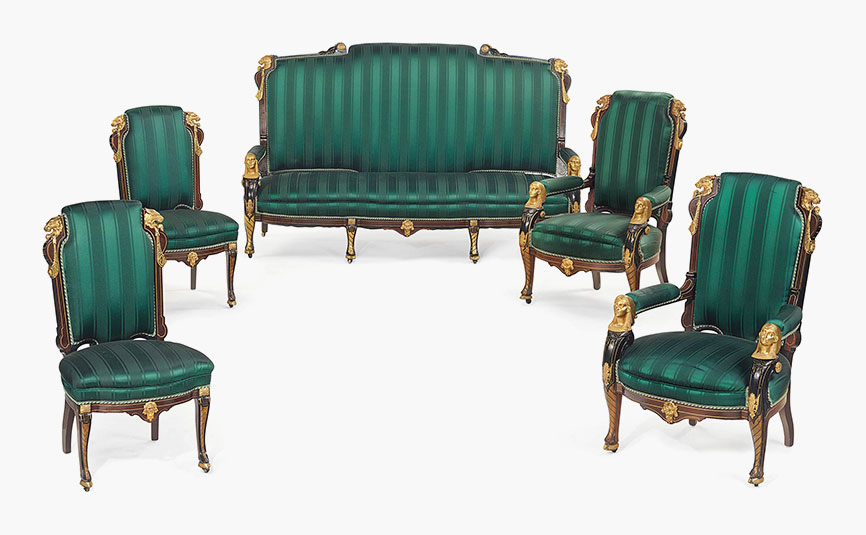 ... And Inlaid Rosewood Parlour Suite, Attributed To Pottier And Stymus  (1859 1910), New York, Circa 1870. This Lot Was Offered In American  Furniture, ...