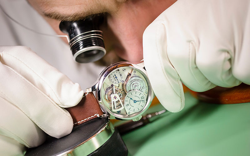 Time keepers The tradition of watchmaking in their hands