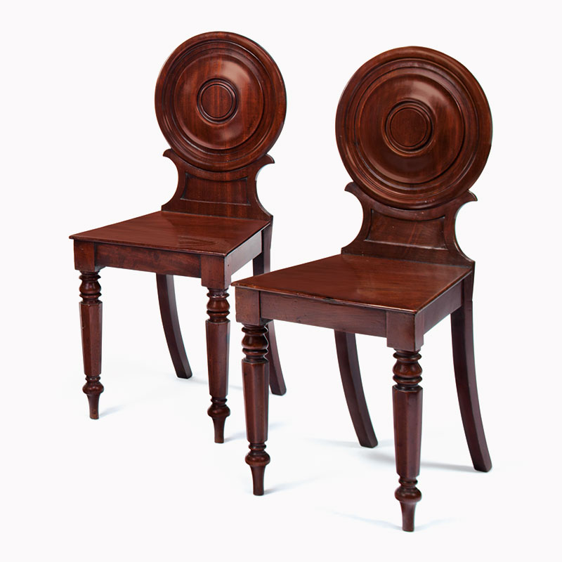 A pair of George III hall chairs. Sold for $1,500 in Living With Art on 29  March 2016 at Christie's in New York - How To Navigate An Antiques Market Christie's