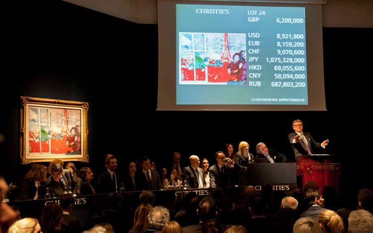 A strong week of sales for Imp auction at Christies