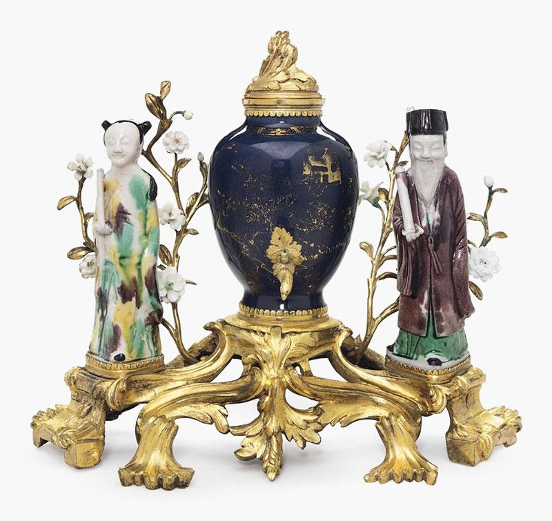 mounted chinese vase