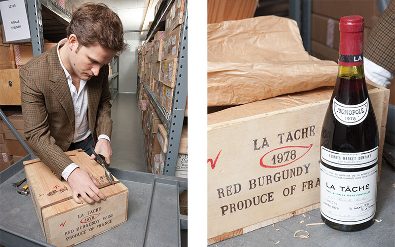 5 minutes with Noah May opens a previously unopened case of La Tâche 1978